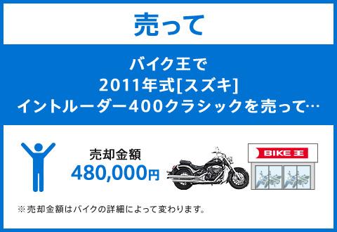 バイク王ダイレクトSHOPで2011年式[スズキ]イントルーダー400クラシックを売って…売却金額480,000円
